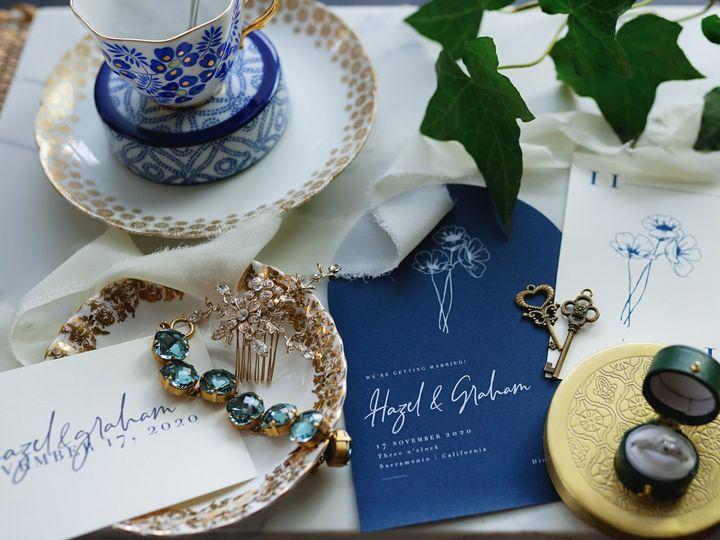 Tmx Flat Lay Blue 2 Shoot 51 1903187 161496378743523 Modesto, CA wedding planner