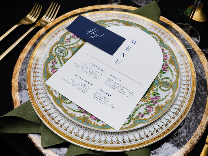 Tmx Styled Shoot Blue Plate Menu And Name 51 1903187 161496379015224 Modesto, CA wedding planner