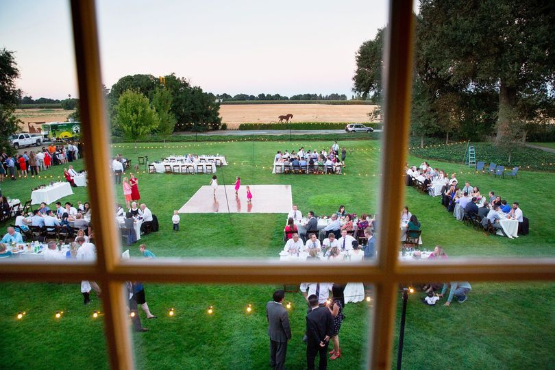 View of back lawn reception