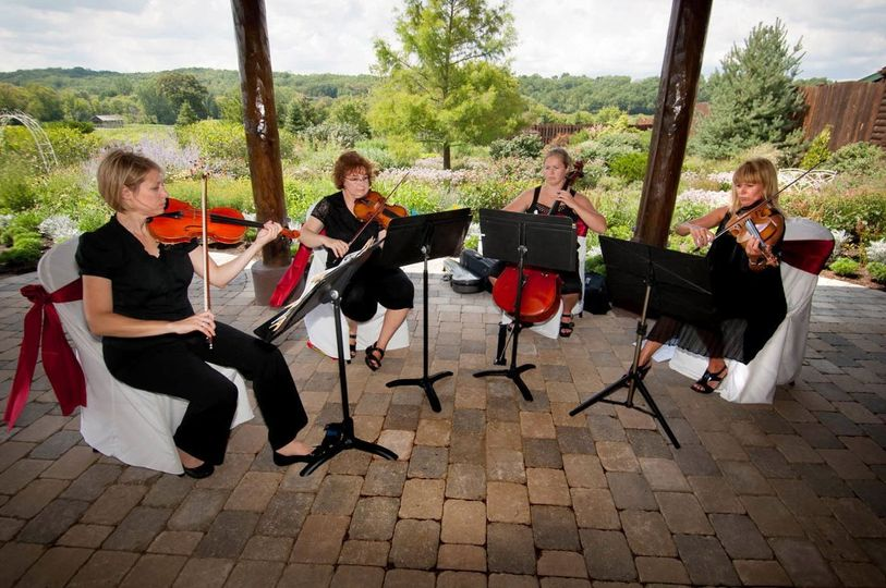 MME String Quartet Wedding Ceremony at Hawk's View Golf Club (Photo courtesy of Mark Black...