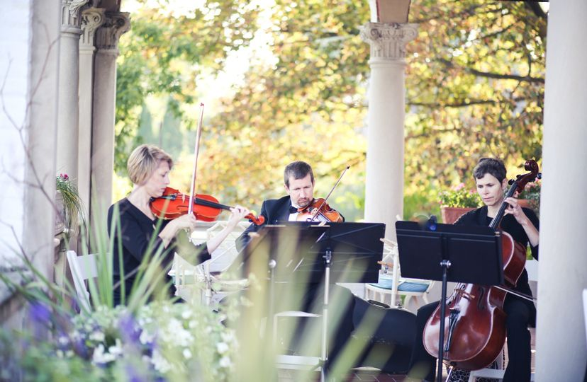 MME String Trio Wedding Ceremony at the Villa Terrace Decorative Art Museum (Photo courtesy of...