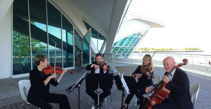 MME String Quartet Wedding Ceremony & Cocktail Hour at the Milwaukee Art Museum