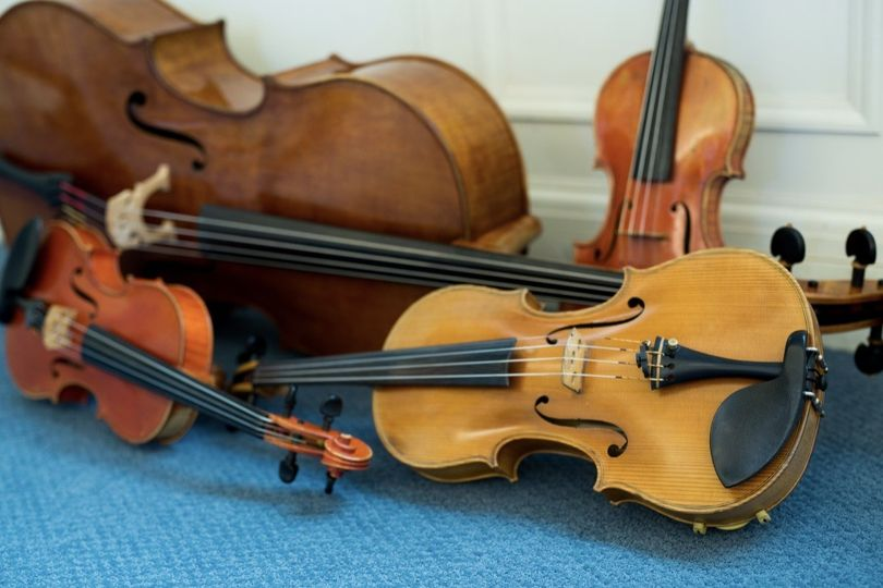 MME String Quartet Instruments (Photo courtesy of Shannon Z Photography)