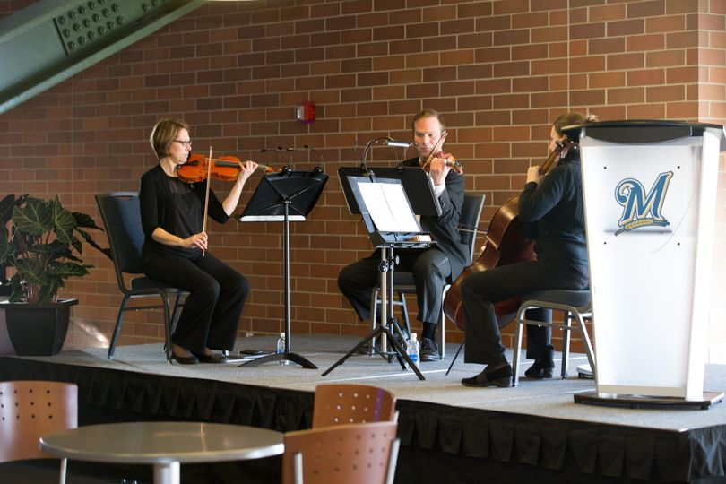 MME String Trio at Brewers Food Tasting Event (Photo courtesy of Doyle's Photography)