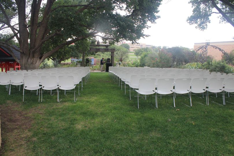 Chairs on the Wedding Lawn