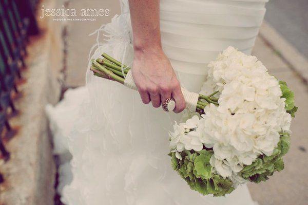 Green & White Hydrangea