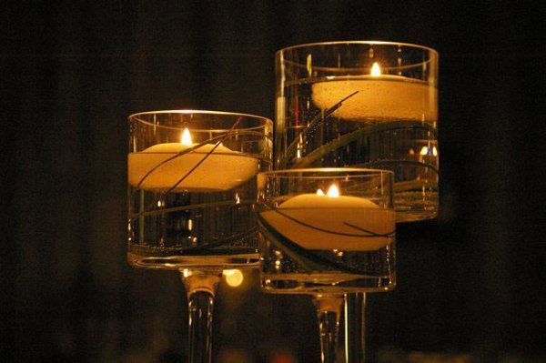 """3 Tier Long Stem Floating Candle Holders.  Make a great centerpiece!  20"""", 18"""" and 15"""" tall.  Use..."""