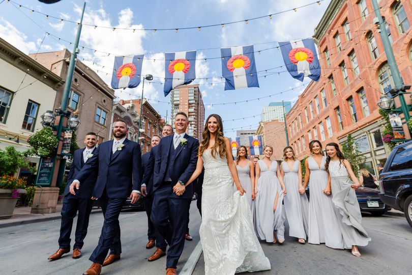 Larimer Street wedding party