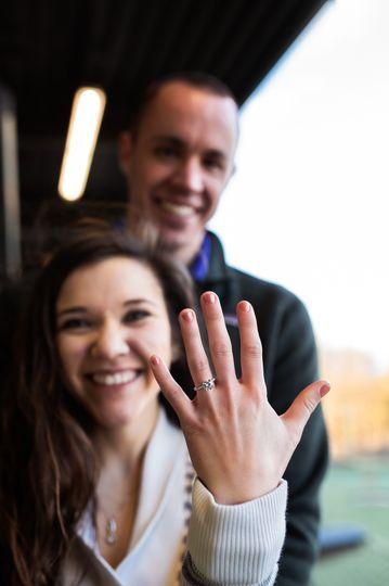 Surprise Proposal at Top Golf