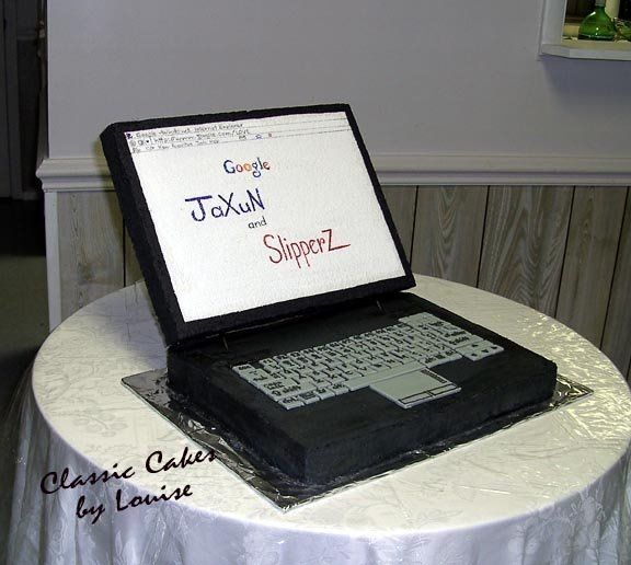 Tmx 1217296123302 ComputerCake1 Fairmont wedding cake