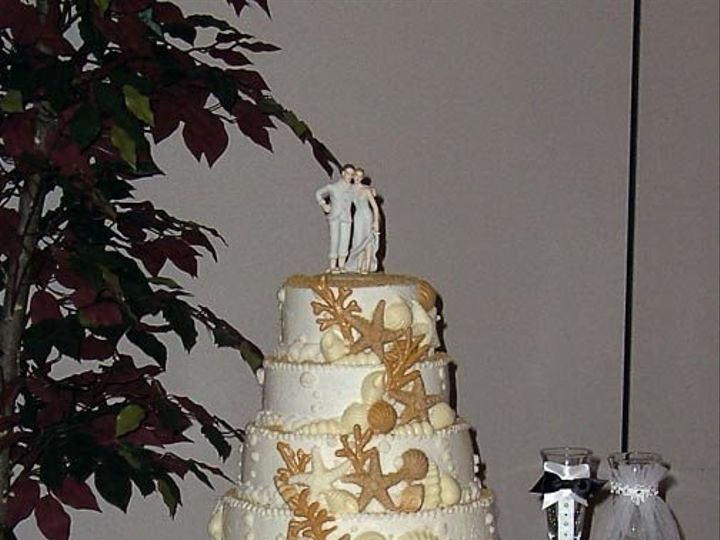 Tmx 1217296527833 NauticalWeddingCake7 08 Fairmont wedding cake