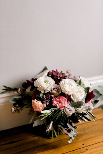 Lavender and Burgundy Bouquet