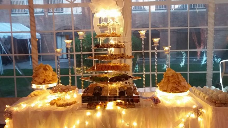 Our grand cookie table makes a dramatic display...and is just as delicious as it is beautiful.