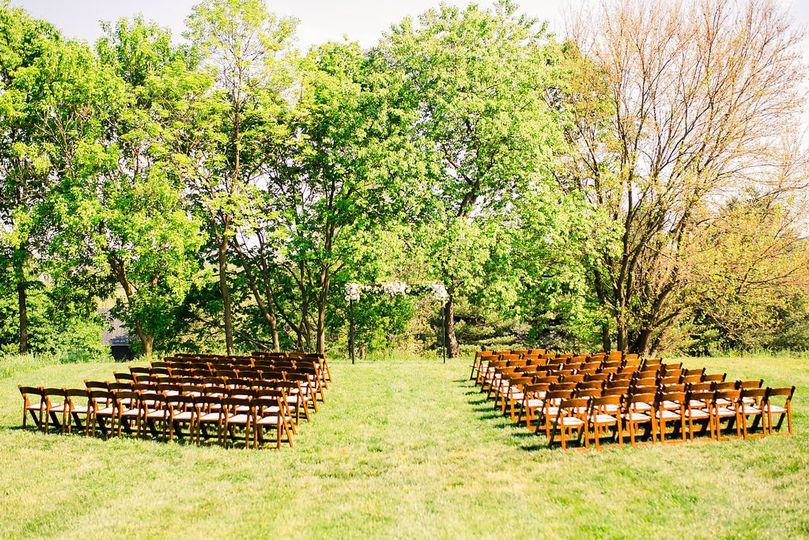 Meadow field ceremony site
