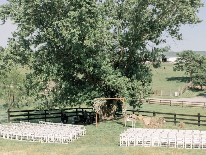 Barn field ceremony site