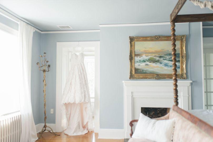 Bridal suite inside manor