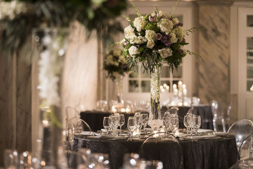 Grand ballroom tablescape