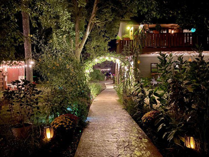 Nighttime Garden Walk