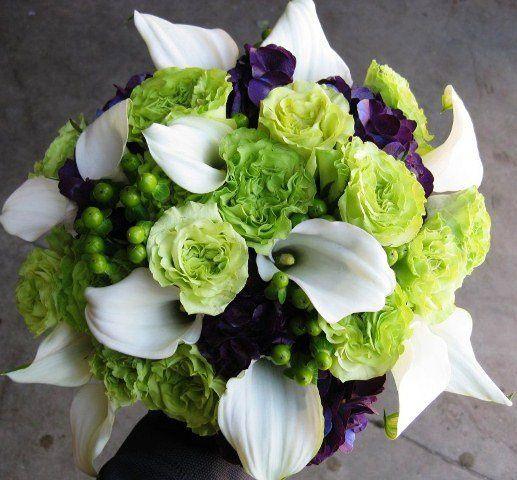 Tmx 1320297190441 Supergreenrosesminicallaliliespurplehydrangea Knoxville wedding florist