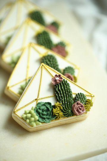 Succulent cookies
