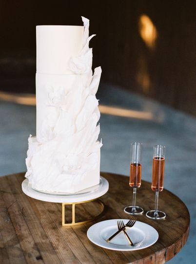 White elegant cake