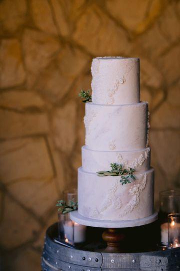 Aging stone wedding cake