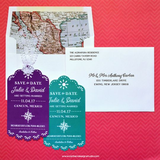 mexican destination wedding save the date