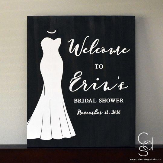 erins bridal shower sign