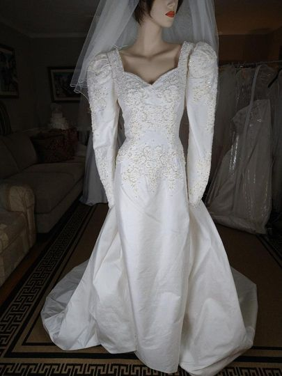 Vintage gowns all beaded!