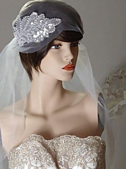 1920s inspired Gatsby veil