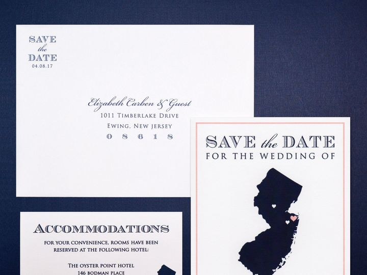 Tmx 1511800750048 Jersey Save The Date Collection Trenton wedding invitation