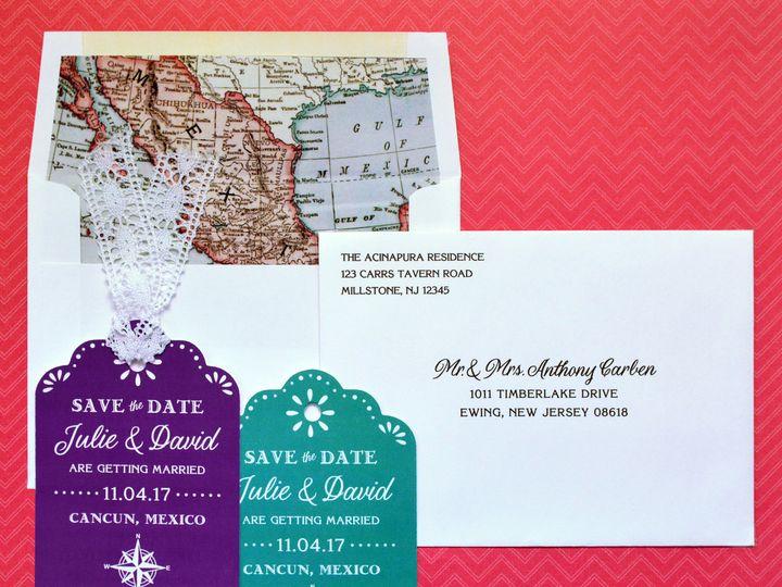Tmx 1511800886460 Mexican Destination Wedding Save The Date Trenton wedding invitation
