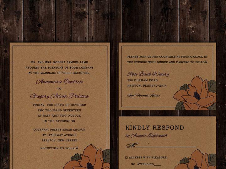 Tmx 1511800964571 Magnolia Wedding Stationey Trenton wedding invitation