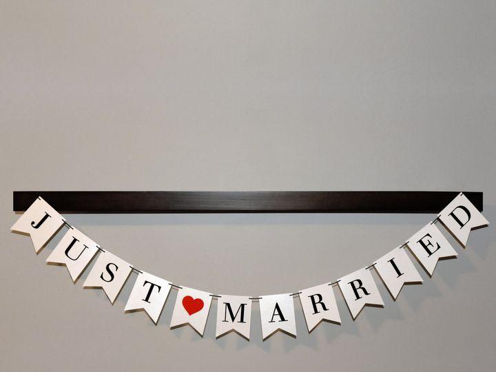 Tmx 1511801378340 Just Married Banner Trenton wedding invitation