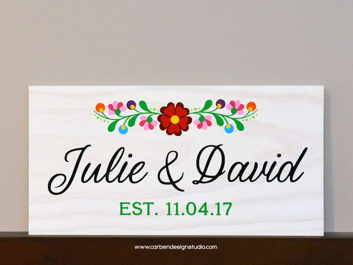 Tmx 1511801514168 Mexican Embroidery Sign  Julie  David Trenton wedding invitation