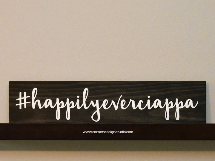 Tmx 1511801514513 Hashtag Sign  Happilyeverciappa Trenton wedding invitation