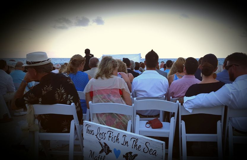 Wedding on the beach in West Palm