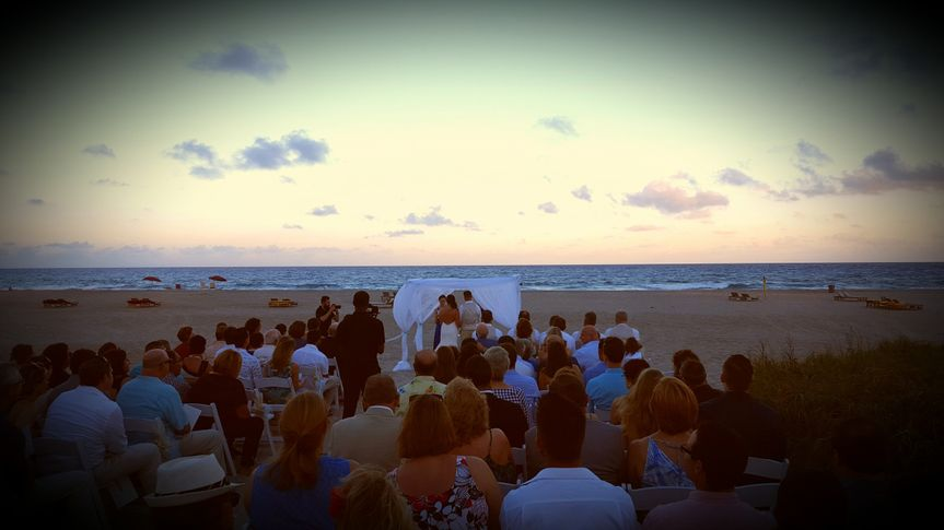 Wedding Ceremony on the Beach in West Palm, Florida