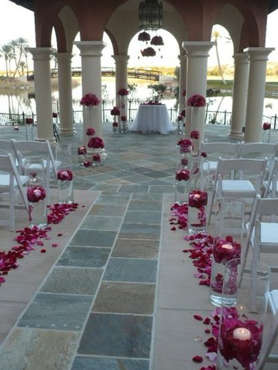 The Andalusian Gardens gazebo (at Loew's Lake Las Vegas)