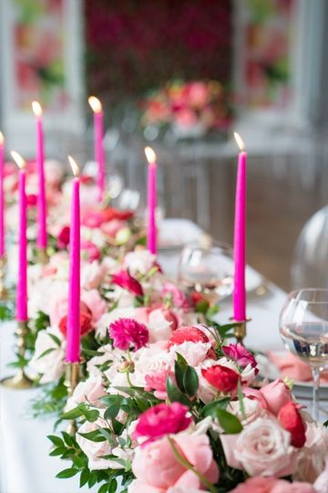 Coral pink headtable