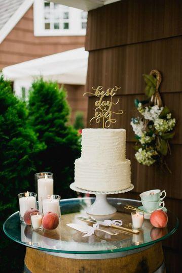 Two layered wedding cake
