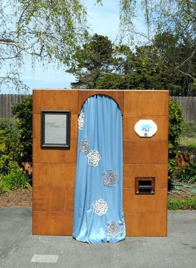 Wooden photobooth