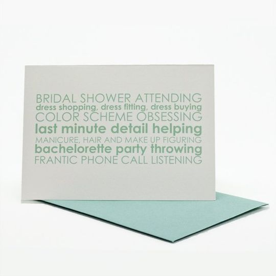Ask your leading ladies if they will stand up with you with this hillarious card!