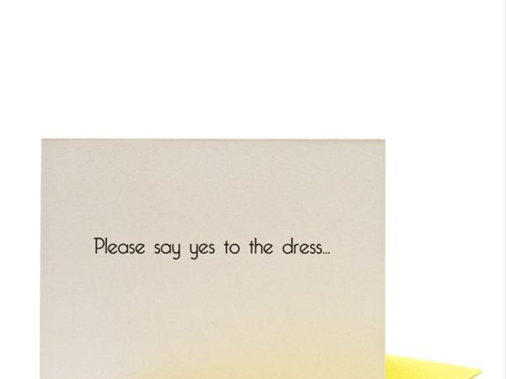 Tmx 1339466624041 CardPleasesayyesfrontwithyellowenvel600x600 Lees Summit wedding favor