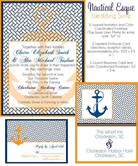 Nautical Esque Wedding Invites