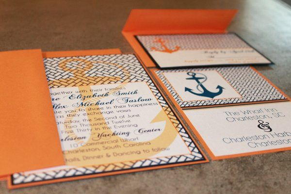 nautical wedding invites via party box design!