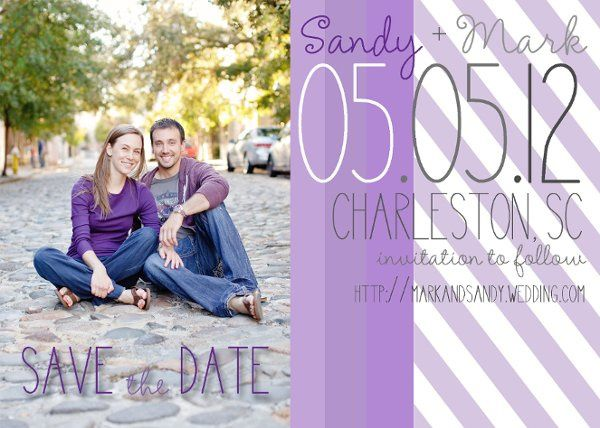 purple save the date magnets