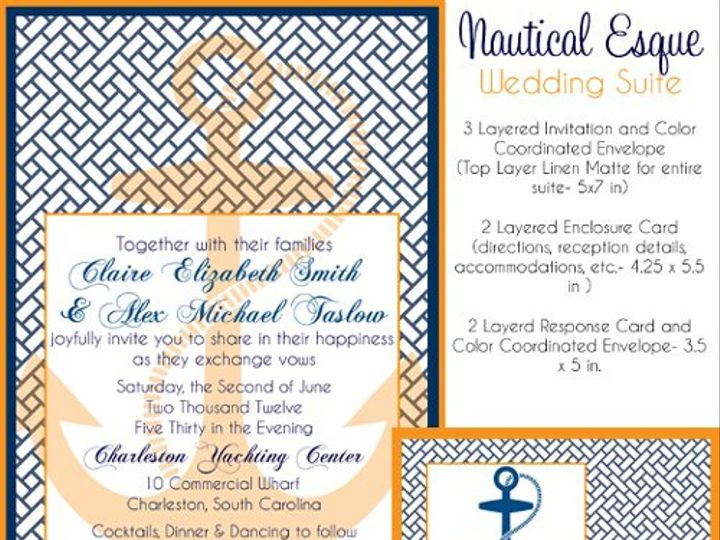 Tmx 1329356883881 Nauticalesque2 Isle Of Palms wedding invitation