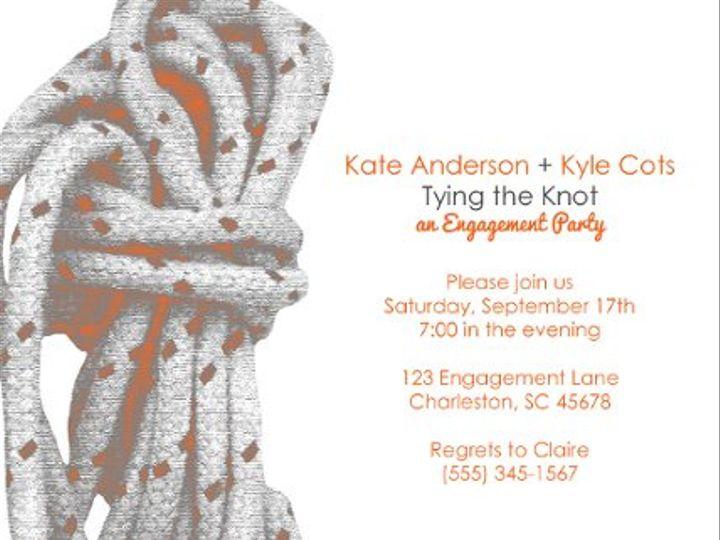 Tmx 1329357215109 TyingtheKnot5by7forsite Isle Of Palms wedding invitation