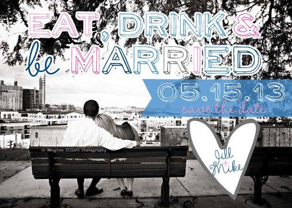 Tmx 1329357275974 EatDrinkandbeMarriedSavetheDate Isle Of Palms wedding invitation